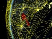 Le Laos de l'espace avec le réseau images stock