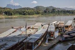 Le Laos, le Mekong Image libre de droits
