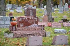 Cimitero nella caduta Immagini Stock