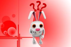 le lapin 3d interroge l'illstration Images stock