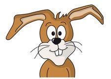 Le lapin de Pâques regarde vers l'avant Photos stock