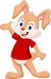 Le lapin mignon a soulevé sa main illustration libre de droits
