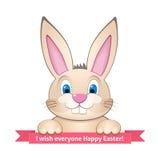 Le lapin souhaite Joyeuses Pâques Photos libres de droits