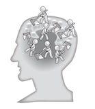 le lavage de cerveaux vous Images libres de droits