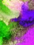 Le lavage humide texturisé frais créatif du monde sous-marin de mer de fond d'art d'aquarelle a brouillé l'imagination de chaos d Photos stock