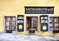 le LD a façonné la librairie dans la rue de Banska Stiavnic photographie stock
