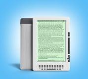 Le lecteur 3d d'EBook rendent l'image sur le gradient illustration libre de droits