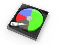 Le lecteur de disque dur à l'intérieur avec gratuit et les données diagram l'illustration 3d illustration de vecteur