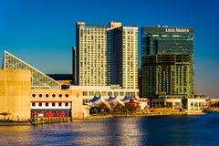 Le Legg Mason Building et hôtel de bord de mer de Marriott dans l'auberge images stock