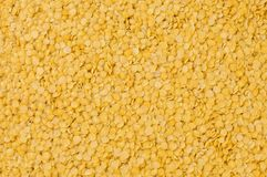 Le lenticchie gialle strutturano il fondo nutrizione bio- Ingrediente di alimento naturale fotografia stock