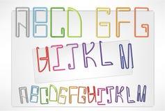 Le lettere appuntano (A-M) Fotografia Stock Libera da Diritti