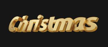Le lettere audaci di Natale hanno isolato 3d-illustration Illustrazione Vettoriale