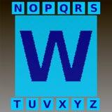Le lettere blu del mosaico in un ciano mosaico quadrano Alfabeto inglese completo Immagini Stock Libere da Diritti