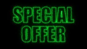 Le lettere del prezzo speciale mandano un sms a sul nero, fondo della rappresentazione 3d, computer che genera per vendere illustrazione vettoriale