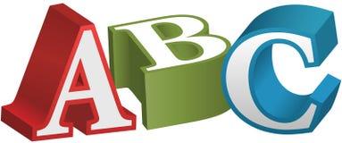 Lettere d'istruzione di alfabeto della fonte di ABC illustrazione vettoriale