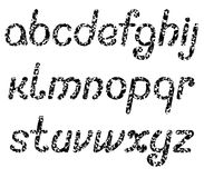 Le lettere dell'alfabeto inglese, consistenti di numerose farfalle nere Fotografia Stock Libera da Diritti