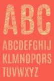 Le lettere dell'alfabeto latino Immagini Stock Libere da Diritti