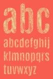 Le lettere dell'alfabeto latino Fotografie Stock Libere da Diritti