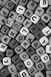 Le lettere di grey Immagini Stock