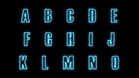 le lettere elettriche dell'alfabeto 4k imballano illustrazione vettoriale