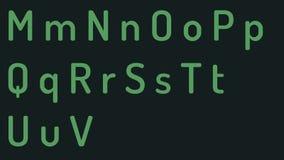 Le lettere stabilite ed i numeri del sistema di verde bianco dell'alfabeto che scrivono sul tubo visualizzano il fondo piano di a royalty illustrazione gratis