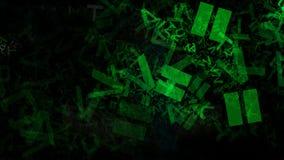 Le lettere verdi fresche dell'alfabeto di caos strutturano l'immagine di sfondo illustrazione di stock
