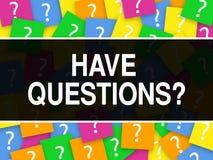 Le lettrage de conception de service client ont des questions illustration stock