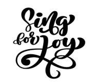 Le lettrage de main chantent pour la joie Fond biblique Affiche chrétienne proverbes Carte d'écriture sainte, illustration de vec illustration stock