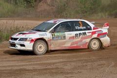 Le lev Stickiy pilote Mitsubishi Lancer Images libres de droits