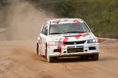 Le lev Stickiy pilote Mitsubishi Lancer Photo stock