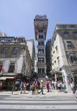 Le levage de Santa Justa à Lisbonne Image stock