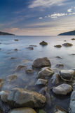 Le lever de soleil, île de chauffent, l'Ecosse Image libre de droits