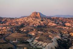 Le lever de soleil au-dessus de Cappadocia Image libre de droits