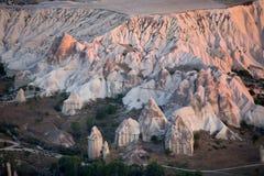 Le lever de soleil au-dessus de Cappadocia Photographie stock