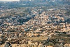 Le lever de soleil au-dessus de Cappadocia Photographie stock libre de droits