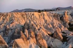 Le lever de soleil au-dessus de Cappadocia Image stock