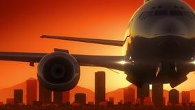 Le lever de soleil d'horizon de Denver Colorado Etats-Unis Amérique décollent illustration stock