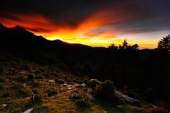 Le lever de soleil dramatique Image libre de droits