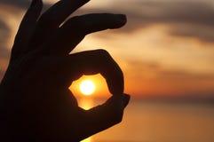Le lever de soleil est CORRECT Photos stock