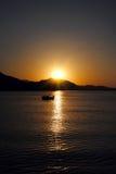 Le lever de soleil est né Photo stock