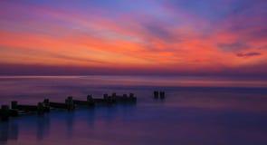 Le lever de soleil qui remue le coeur Photos stock