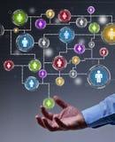 Mise en réseau sociale dans les affaires illustration libre de droits