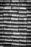 Le liège de vin couvre le bataillon images stock