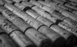 Le liège de vin couvre le bataillon Image libre de droits