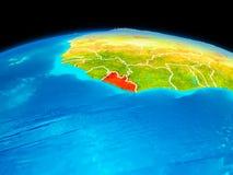 Le Libéria en rouge Images stock