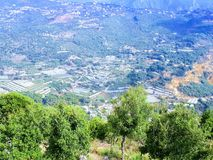 Le Liban Mountain View Images libres de droits