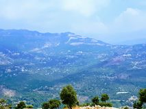 Le Liban Mountain View Photo stock