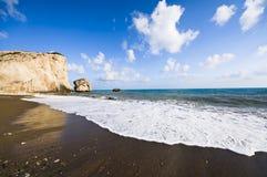 Le lieu de naissance de l'Aphrodite en Chypre Photo libre de droits