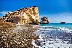 Le lieu de naissance légendaire de l'Aphrodite dans Paphos, Chypre photo libre de droits
