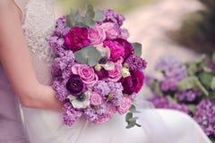 Le lilas et s'est levé Photos stock